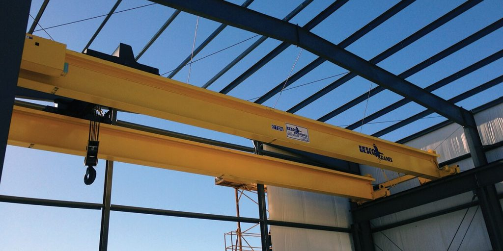 uesco double girder top running dual motor crane