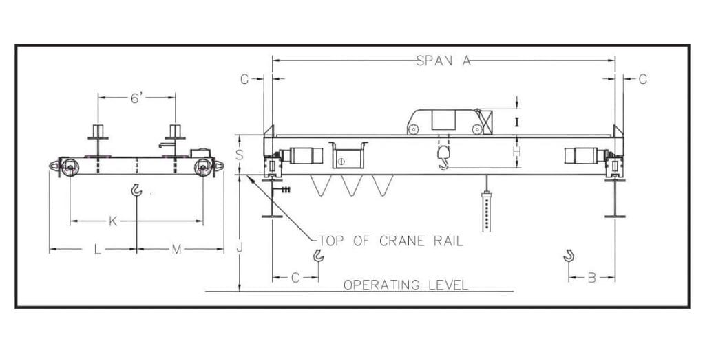 Double Girder, Top Running, Dual-Motor, Rotating Axle Overhead Cranes